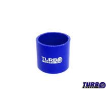 Szilikon összekötő, egyenes TurboWorks Kék 76mm